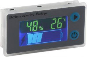 DROK 10-100V Digital Battery Capacity Tester for All Batteries