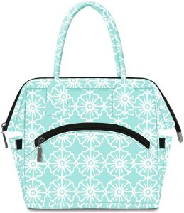 E-Clover Floral Open-Wide Freezable Lunch Bag