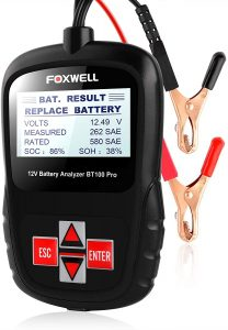 FOXWELL 12V Automotive Car Battery Tester for All Batteries