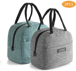 HiPretty 2PCS insulated Leakproof Freezable lunch bag