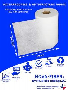 Nova-Fiber 6 inch X 75 Foot Roll Waterproofing Tape