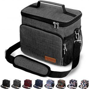 Tiblue Reusable Freezable Lunch Bag with Adjustable Shoulder Strap