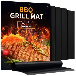 Aoocan Heavy Duty Set of 5 BBQ Grill Mats