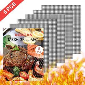 Aoocan Set of 5 Heavy Duty Reusable Grill mesh mat