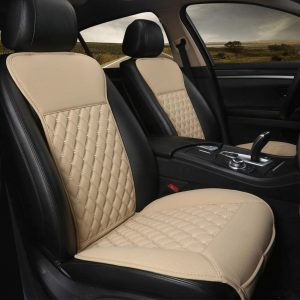 Black Panther Beige 1 Pair Car Seat Covers