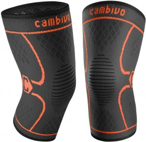 CAMBIVO 2 Pack Compression Sleeve Knee Brace