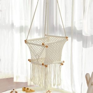 FUNNY SUPPLY Indoor Hanging Swing Seat Hammock Chair for Infant