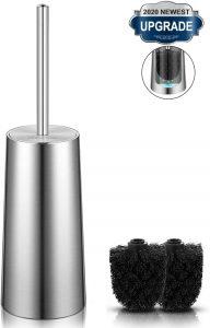 Homemaxs Durable 304 Stainless Steel Toilet Brush With Holder