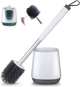 POPTEN Sturdy Toilet Brush and Holder