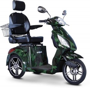 eWheels 3-Wheel Scooter with High Speed in Green