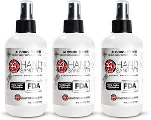 Adam's Hand Sanitizer 75% Isopropyl Alcohol 3 Pack Hand Sanitizing Spray