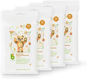 Babyganics Alcohol-Free 4 Pack Mandarin Hand Sanitizer Wipes