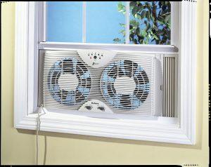 """Holmes Dual 8"""" Blade Twin Window Fan"""