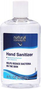 Natural Concepts 65% Ethyl Alcohol Hand Sanitizer Gel, 6 Pack of 8 oz