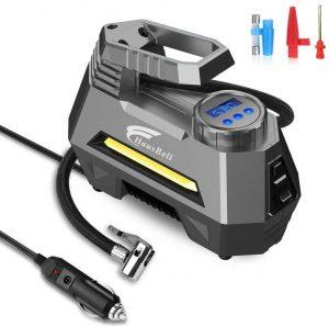 HAUSBELL Portable Air Compressor for Car Tires, 12V DC Air Compressor