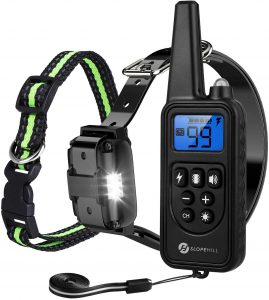 Slopehill Adjustable Dog Training Collar, Waterproof & Rechargeable