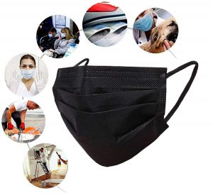 Wecolor 100 Pcs Disposable 3 Ply Earloop Face Masks