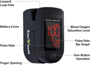 Zacurate 500DL Fingertip Pulse Oximeter Pro Series