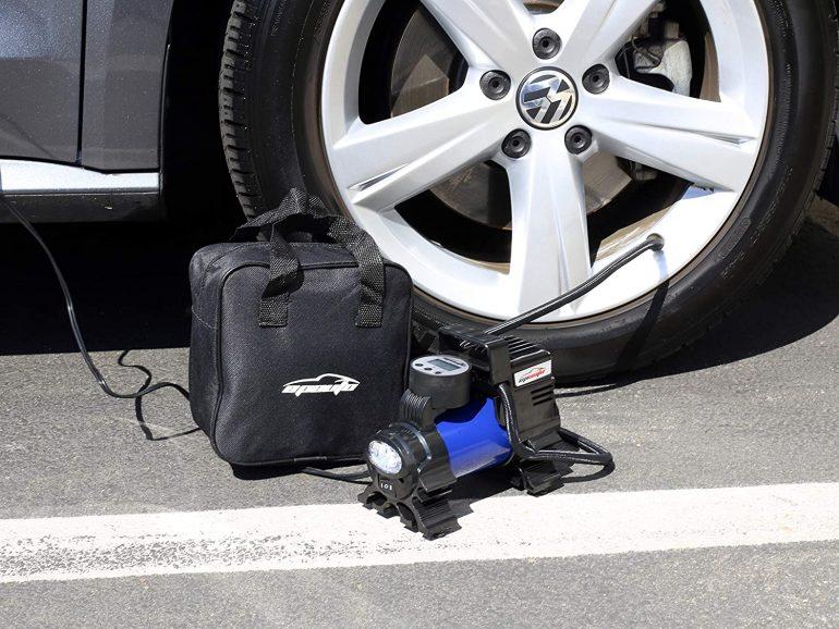 portable air pump for car tires