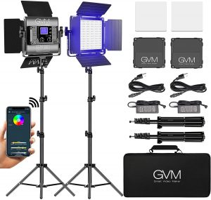 GVM RGB LED Video Light, Photography Studio with Color