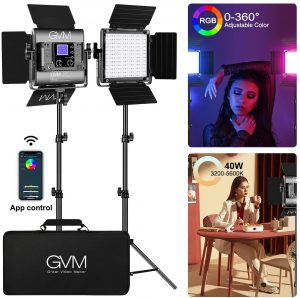 GVM RGB Led Video Photography Studio with Colors