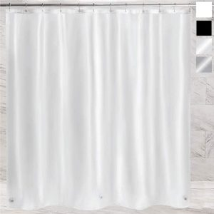 Gorilla Grip Premium PEVA Shower Curtain with Magnets