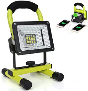 HAllomall Portable 15W 24 LED Rechargeable LED Work Light