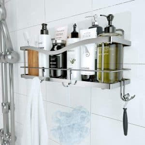 KINCMAX Shower Bathroom Caddy Basket Shampoo Holder with Hooks