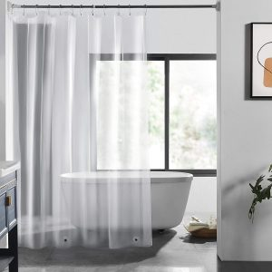 LOVTEX Clear Shower Curtain Liner with Magnet