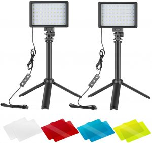 Neewer 2 Packs LED Photography Studio Light with Color