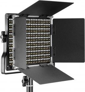 Neewer 2 Pieces Bi-color 660 LED Light Photography Studio with colors