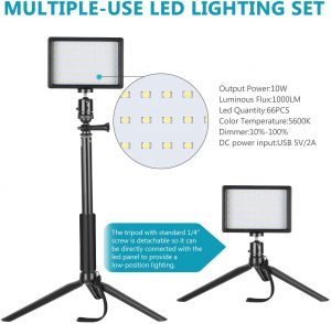 Neewer 5600K LED Light Photography Studio with Colors