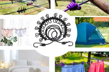 Portable Elastic Travel Clothesline