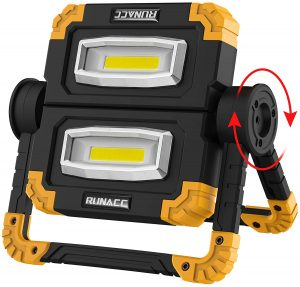 RUNACC Portable Waterproof 2 COB LED Work Light