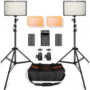 SAMITAN Dimmable Photography Studio Light with Color