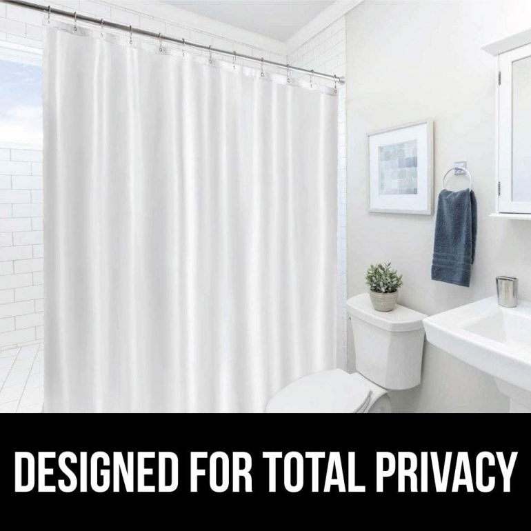 Shower Curtain Liner With Magnet