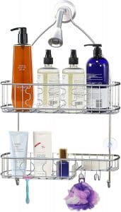 SimpleHouseware Hanging Shower Head 26 x 16 x 5.5 inches Bathroom Caddy Organizer
