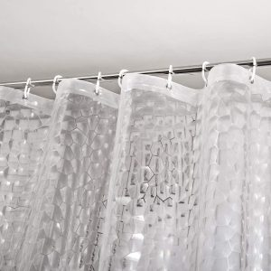 WELTRXE Waterproof Shower Curtain Liner with Magnets