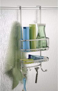 iDesign York Over the Door Bathroom Shower Caddy with Hooks