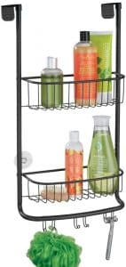 mDesign Modern Metal Shower Caddy and Bathroom Tub