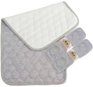 BlueSnail Bamboo Quilted Waterproof Thicker Changing Pad Liners (Gray)