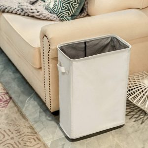 Chrislley Slim Rolling Tall Laundry Hamper (Slim 22 Inches, Beige)