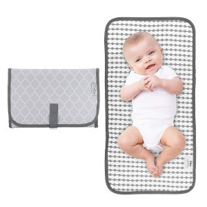 Comfy Cubs Baby Grey Compact Portable Changing Pad