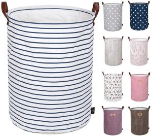 DOKEHOM Thickened 22-Inches X-Large Laundry Basket Storage (Blue Strips)