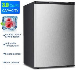 Kismile Compact Single Door Upright Freezer with Adjustable Thermostat