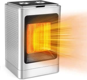 MUDSHI Portable Space Heater, Overheat Protection and Tip-Over Protection