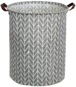 Tsingree Collapsible Round Cotton Laundry Hamper Large Storage Bin