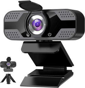 ANVASK Webcam with Microphone for Desktop
