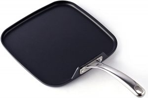 Cooks Standard Hard-Anodized Square Griddle Pan, Black