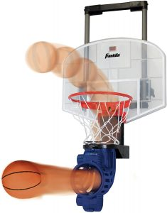 Franklin Sports Door Mini Basketball Hoop with Ball and Rebounder for Kids